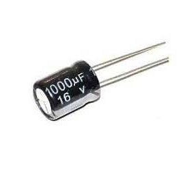خازن الکترولیت 1000 میکرو فاراد 16 ولت 1000uf-16v
