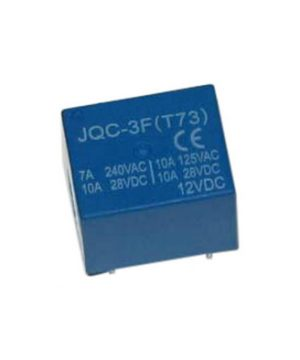 رله 12 ولت تک کنتاکت 5 پین JQC-3F 1C DC12V