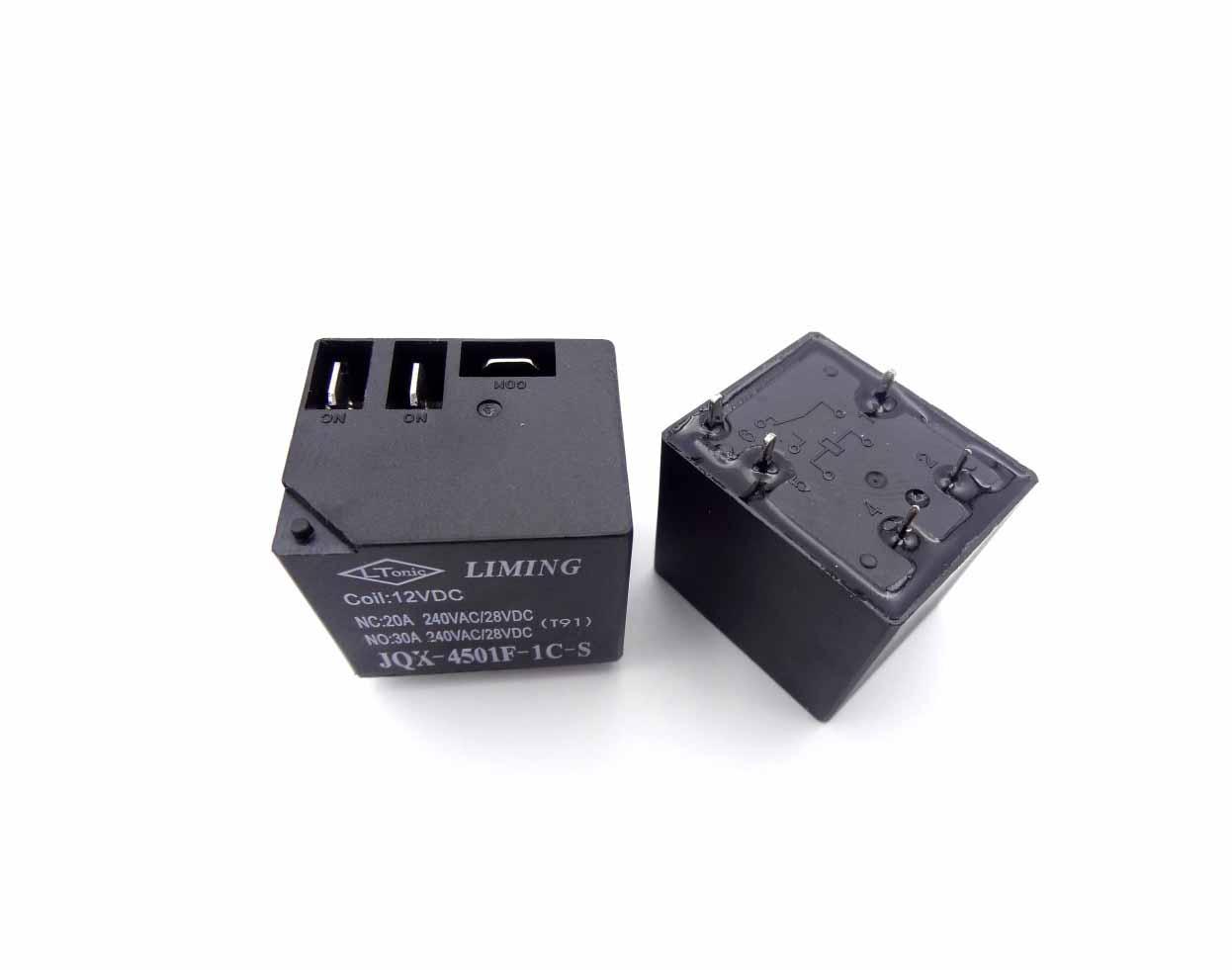 رله کولری 12 ولت 30 آمپر مارک LIMING کد JQX-4501F-1C-S
