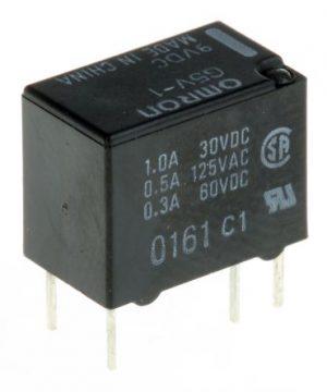 رله 9 ولت مینیاتوری 6 پایه 0.5 آمپر Omron G5V-1-9VDC